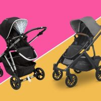 mockingbird vs uppababy strollers standing side by side