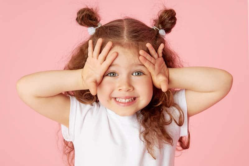 adorable little girl posing