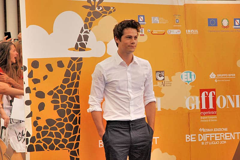 famous actor posing on film festival