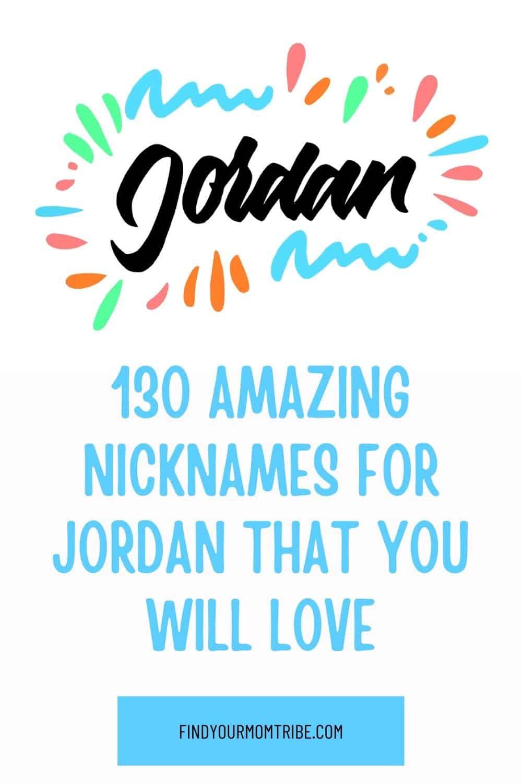 Pinterest nicknames for jordan