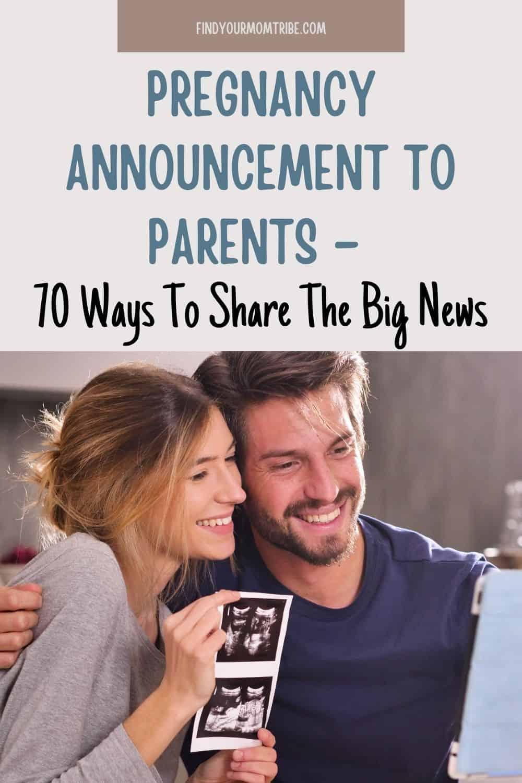 Pinterest pregnancy announcement to parents