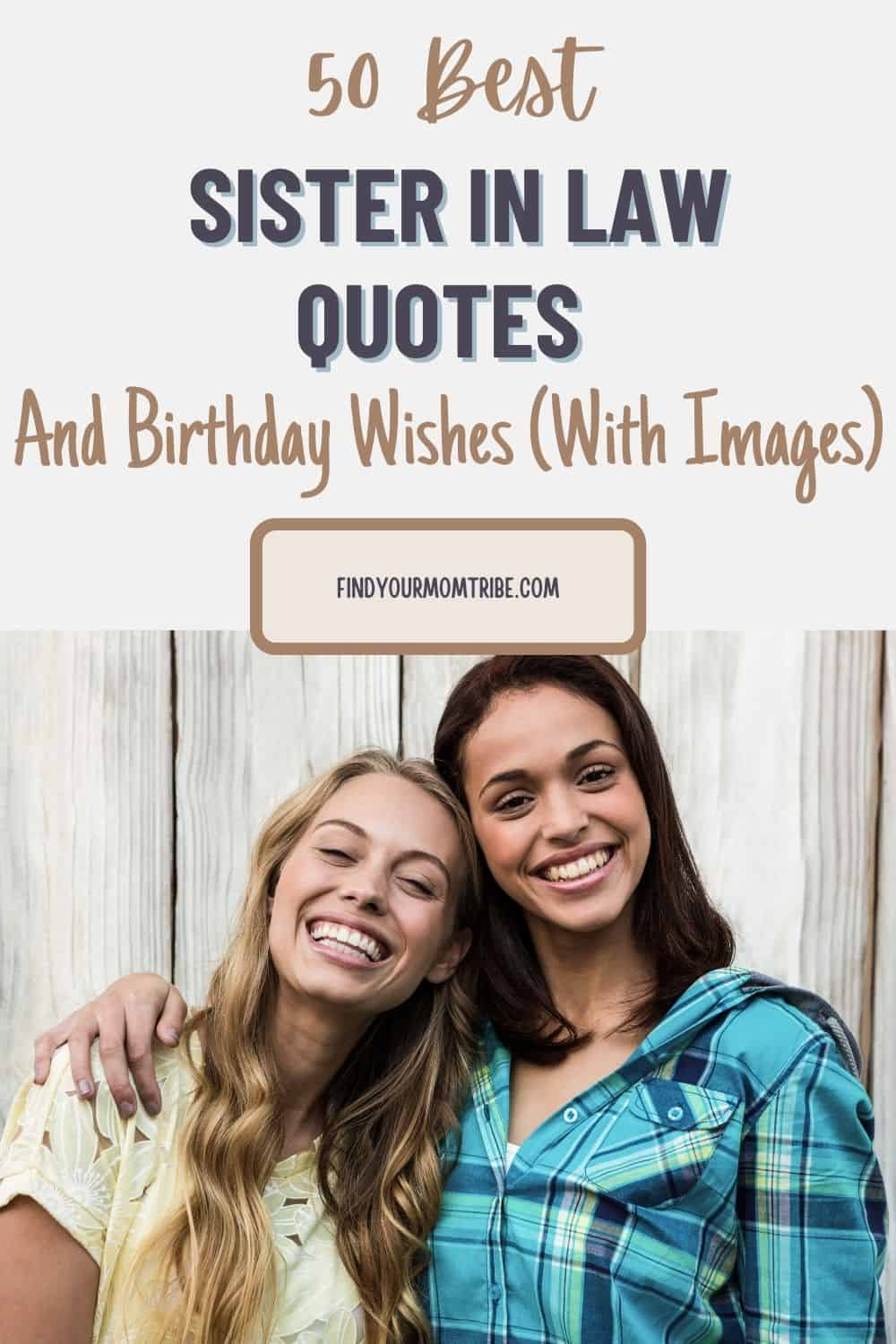 Pinterest sister in law quotes