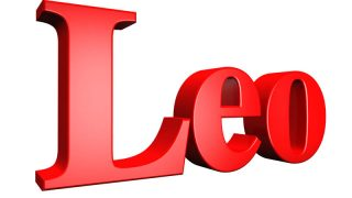 the name leo in 3d letter illustration