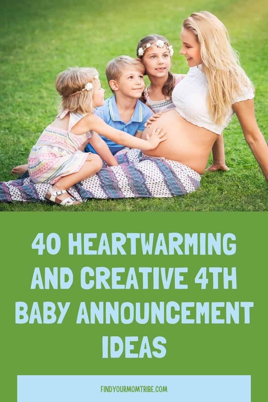 Pinterest 4th baby announcement