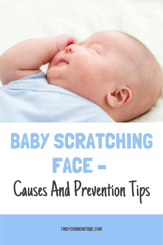 Pinterest baby scratching face