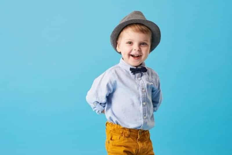 cute little boy wearing a hat