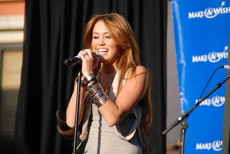 famous female singer performing on the stage