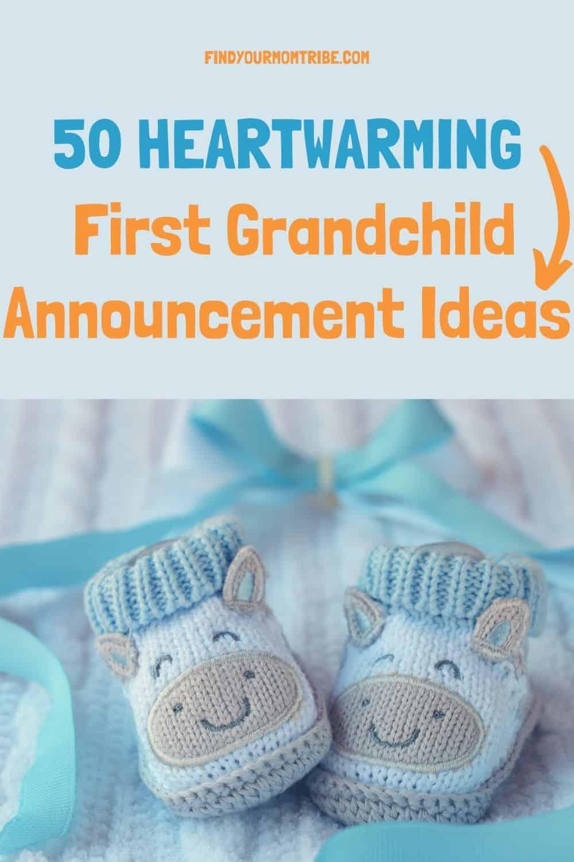 Pinterest first grandchild announcement ideas