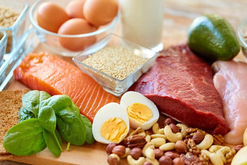 food that contains protein on the table