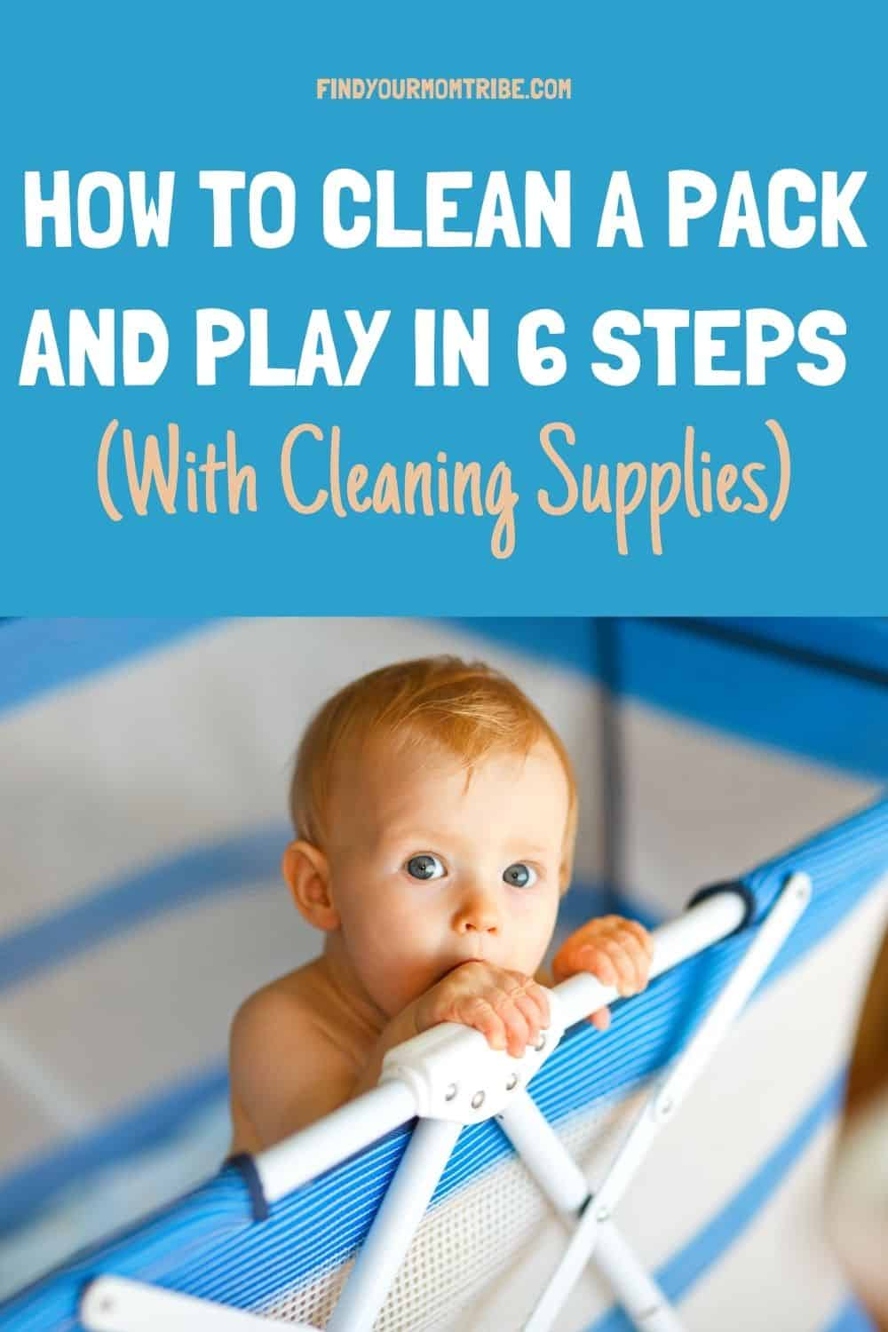 Pinterest how to clean a pack and play