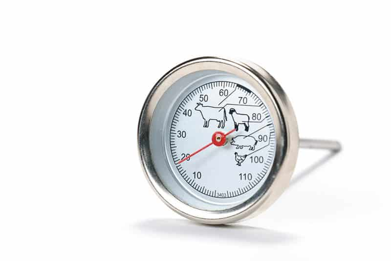 meat thermometer on white table