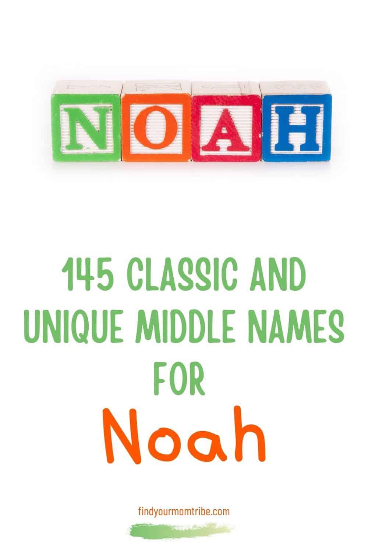 Pinterest middle names for noah
