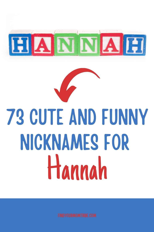 Pinterest nicknames for hannah