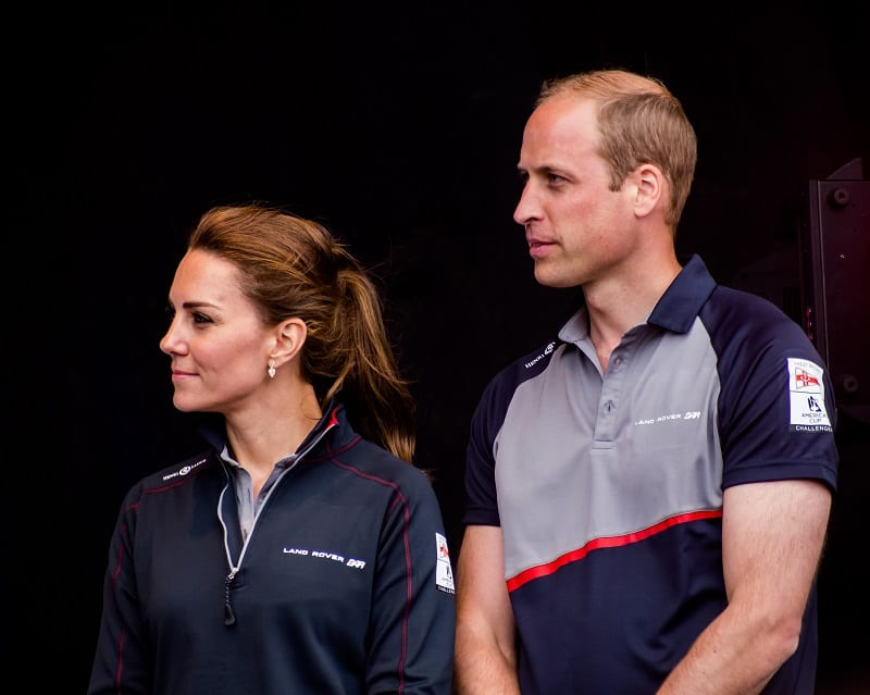 Prince William with his wife Catherine at a public event