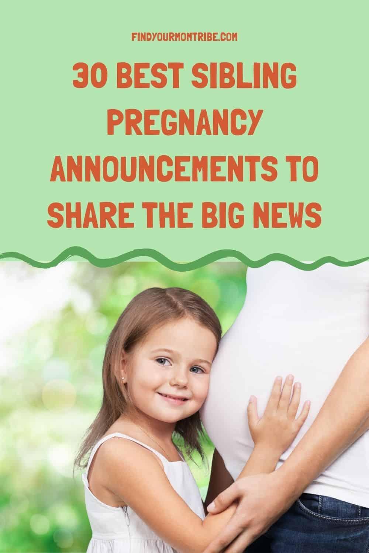 Pinterest sibling pregnancy announcement
