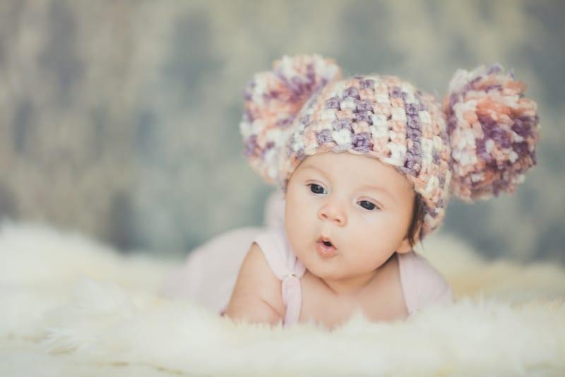 Cute newborn baby girl