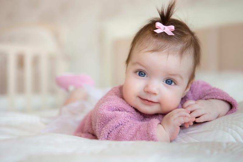adorable smiling newborn baby