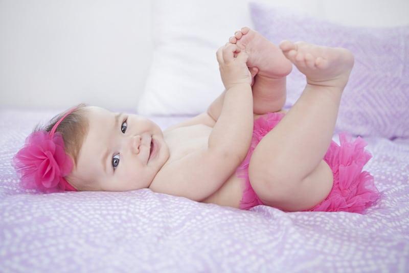 adorable baby girl smiling