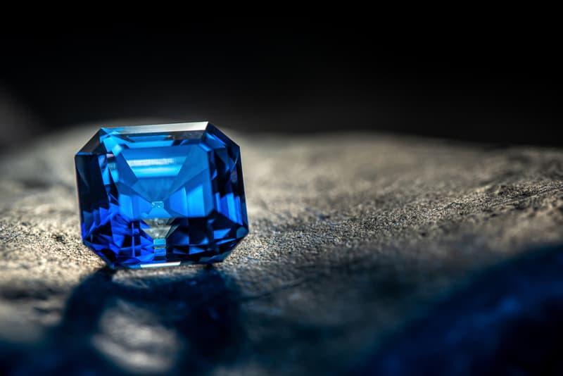 beautiful blue sapphire