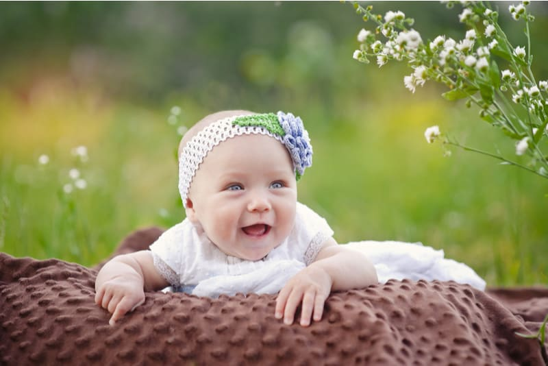 cute little baby girl smiling