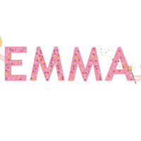 a colorful illustration of the name Emma