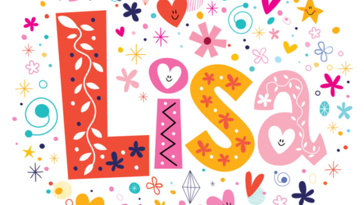 a colorful illustration of the name Lisa