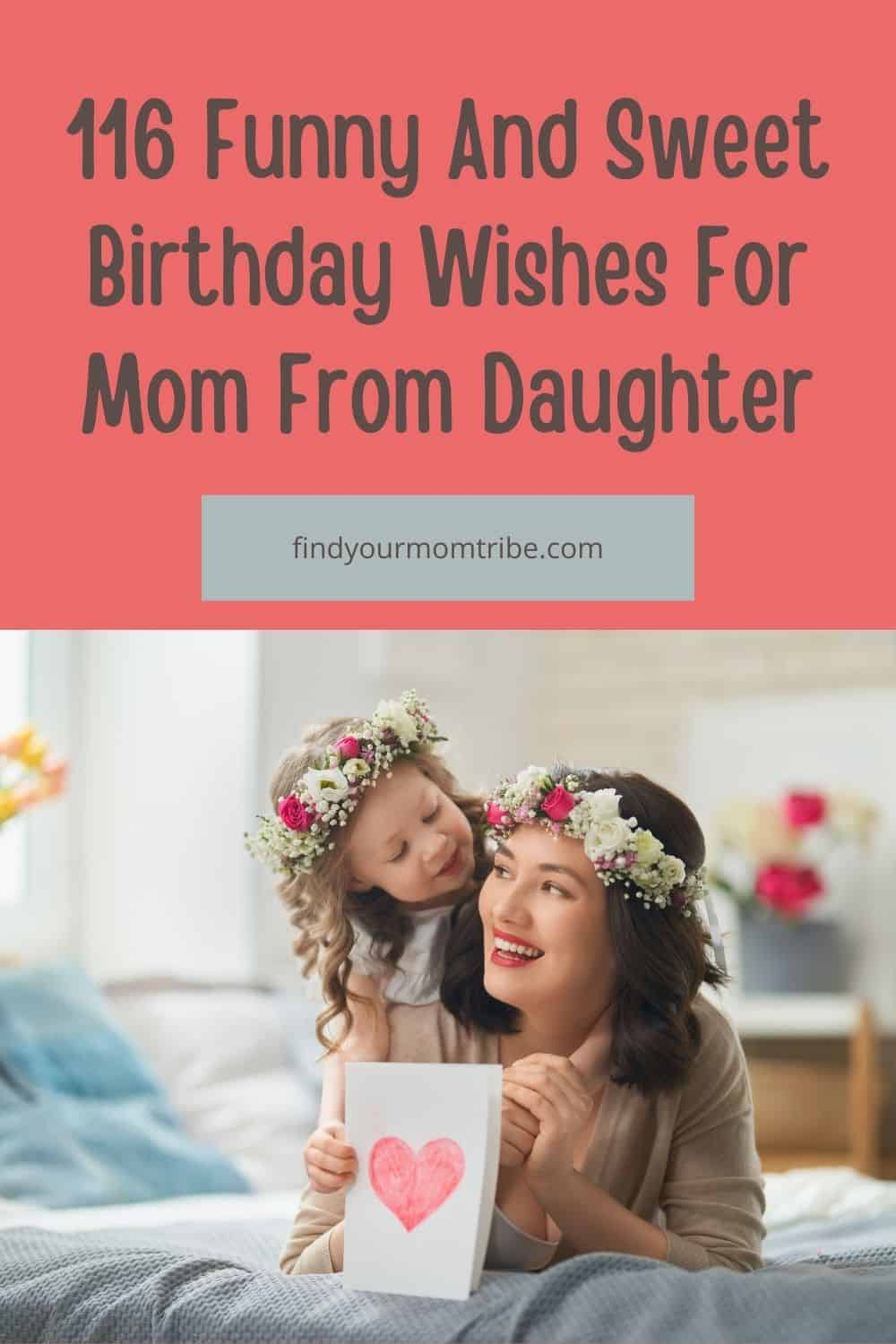 Pinterest birthday wishes for mom from daughter