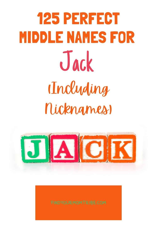 Pinterest middle names for jack