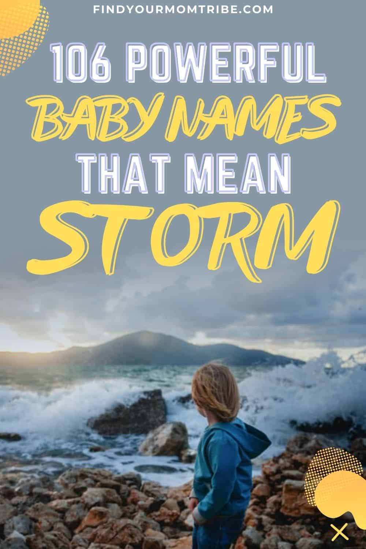 names that mean storm pinterest
