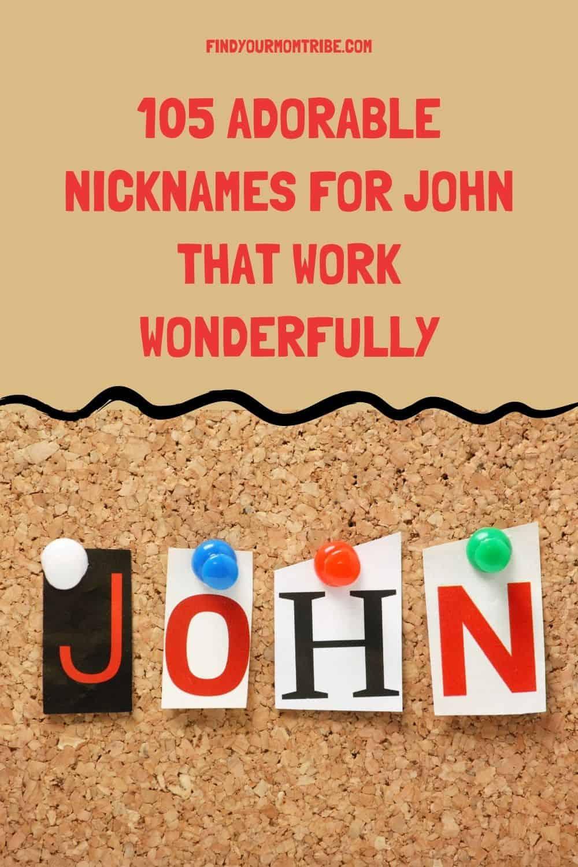 Pinterest nicknames for john