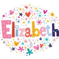 colorful illustration of the name Elizabeth
