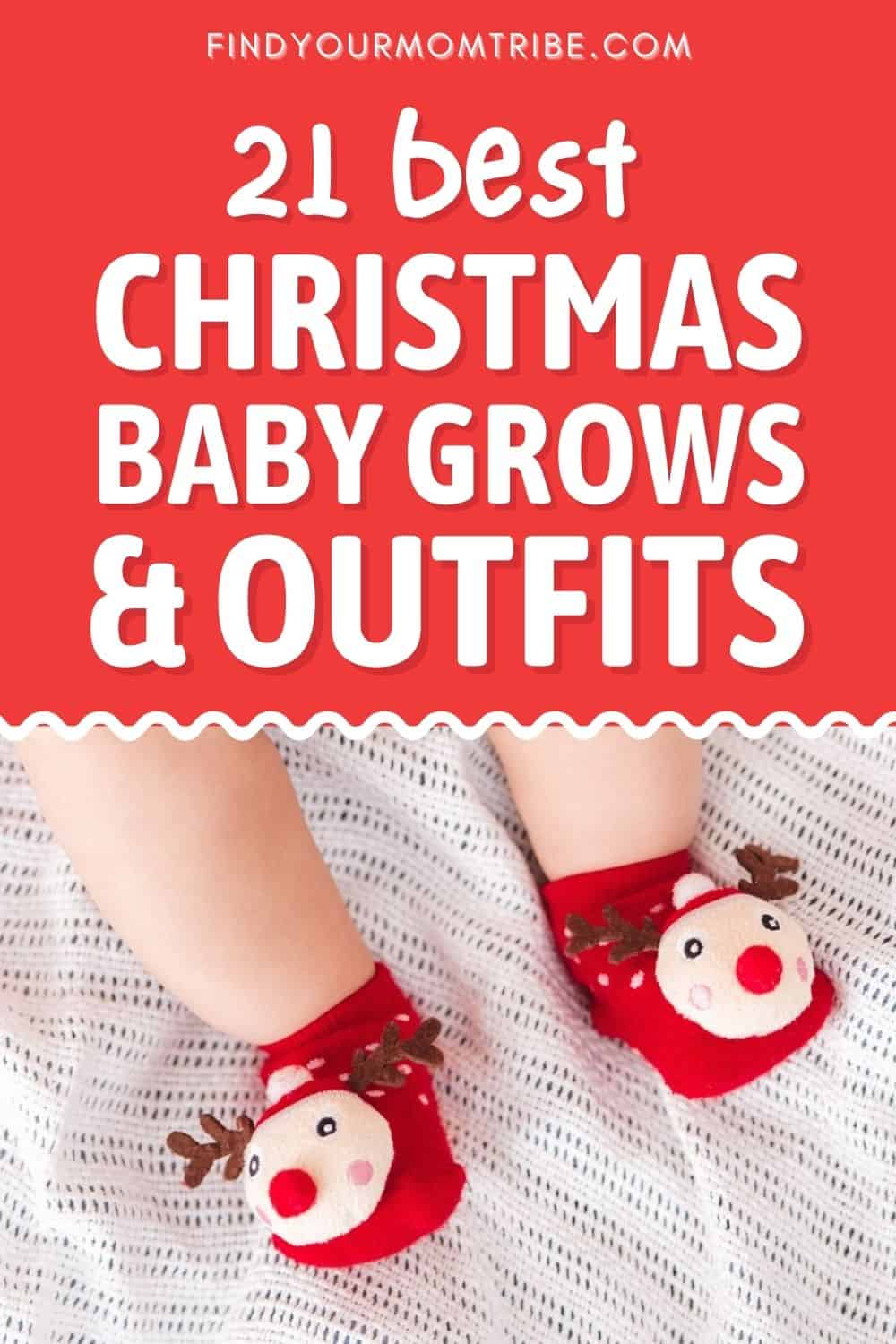 21 Best Christmas Baby Grows and Outfits Pinterest