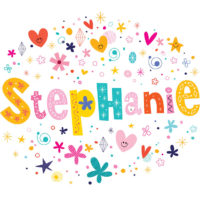 a colorful illustration of the name Stephanie