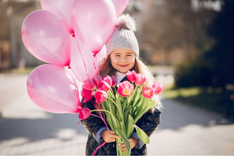 Cute little girl in a park