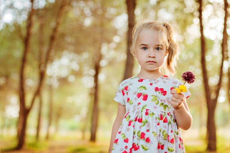 Cute little girl wearing beautiful dress