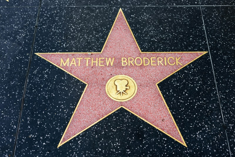 Matthew Broderick star on the Hollywood Walk of Fame