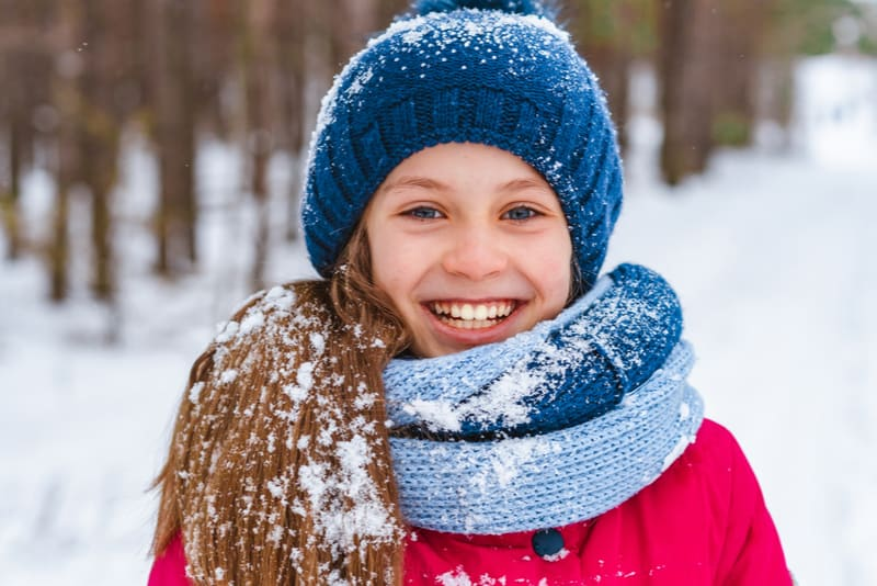 beautiful smiling little girl outdoors