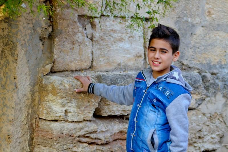 cute little boy outdoors