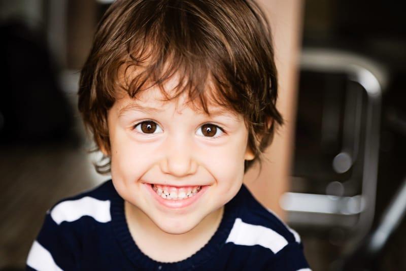 happy child toddler boy smiling