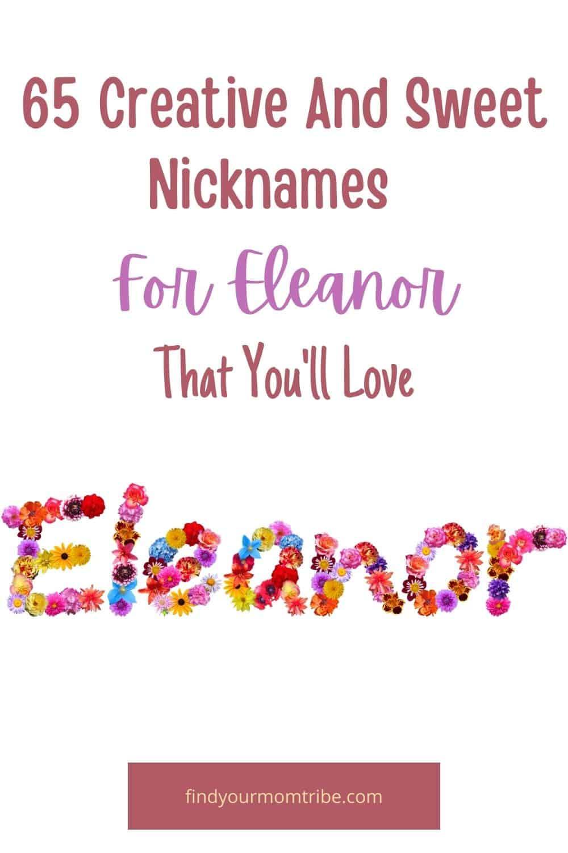 Pinterest nicknames for eleanor