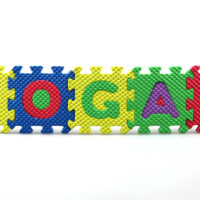 the name Logan made from colorful puzzles