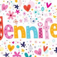 colorful illustration of the name Jennifer