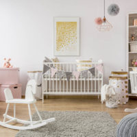 baby nursery decorated with beautiful furniture